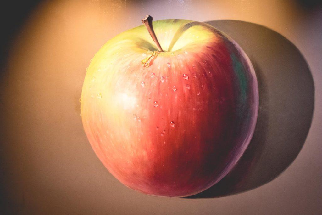 รูปภาพ 3 มิติของแอปเปิล
