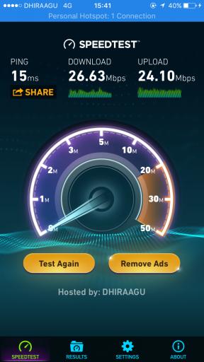 Speed Test ซิมอินเตอร์เน็ต มัลดีฟส์